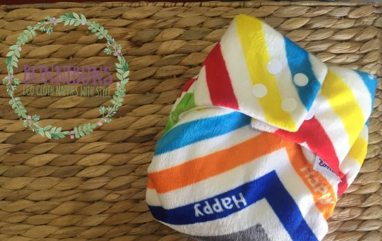 Bonnibuns Night Nappy – Chevron